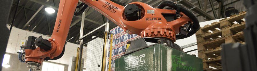 Paletizado de Cajas automático 1 + 2 – Robótica KUKA