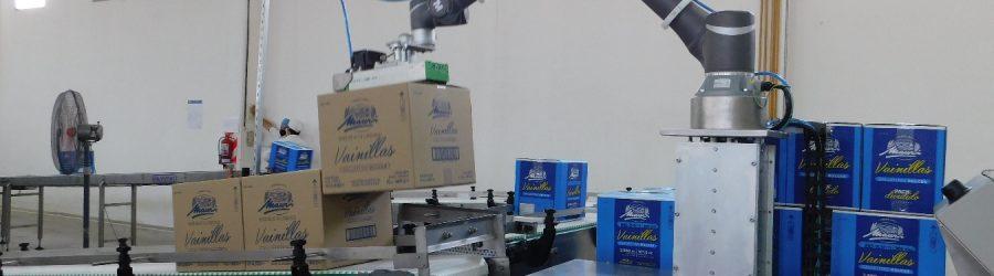 Paletizado de cajas con COBOT